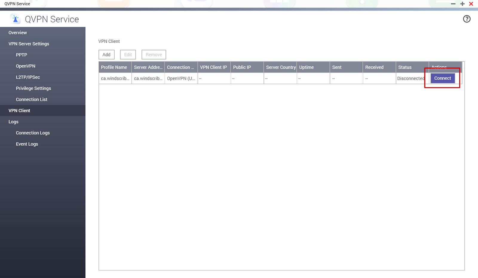 QNAP NAS Setup Guide - Windscribe